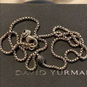 David Yurman single station  ball necklace